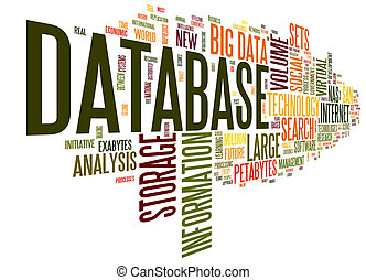 Database concept in word cloud - Database concept in word...