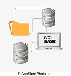 Database design, vector illustration.