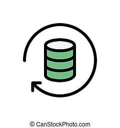 database  flat color icon