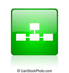 database green square web glossy icon