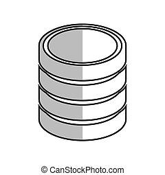database hard disk host system