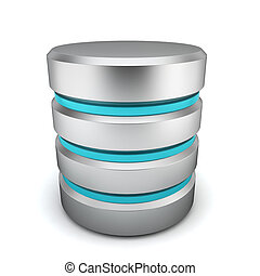 Database icon. 3d illustration on white background