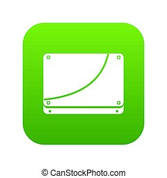 Database icon digital green