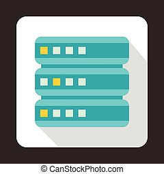 Database icon, flat style
