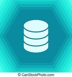Database icon flat