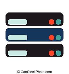 Database icon. Flat Vector illustration on white background.