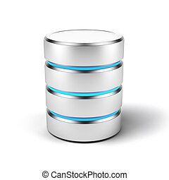 Database icon isolated on a white background