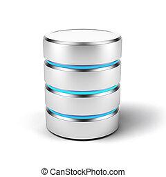 Database icon isolated on a white background