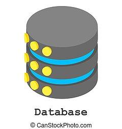 Database icon, isometric style