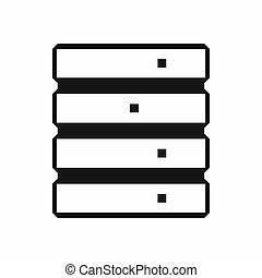 Database icon, simple style