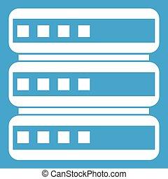 Database icon white