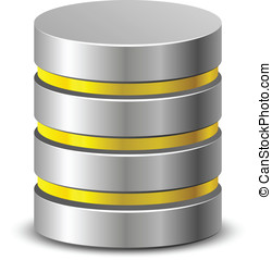 Database icons - Database vector icon. Vector illustration