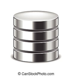 Database isolated on white vector