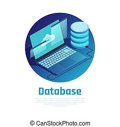 Database Isometric Design Concept