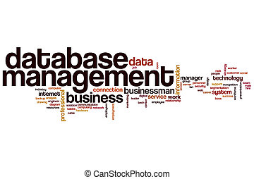 Database management word cloud