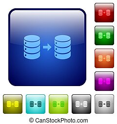 Database mirroring color square buttons