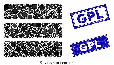 Database Mosaic and Grunge Rectangle GPL Watermarks