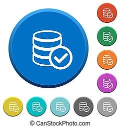 Database ok beveled buttons