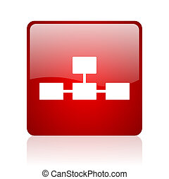database red square web glossy icon