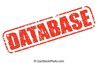 Database RED STAMP TEXT