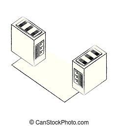 database server center connection network data
