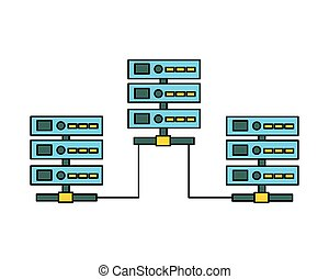 database server center technology connection