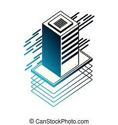 database server isometric storage information technology