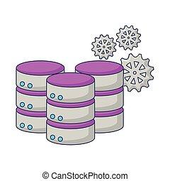 database server storage center gears work