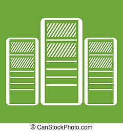 Database servers icon green