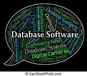 Database Software Means Text Computing And Freeware - ...