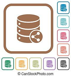 Database table relations simple icons