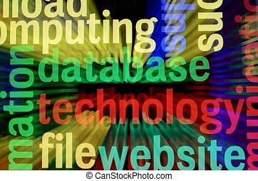 Database technology concept