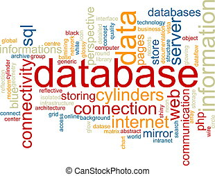Database word cloud - Word cloud concept illustration of ...