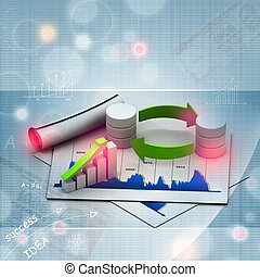 Databases concept icon with graph in chart