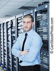 datacenter, δωμάτιο , νέος , αυτό , δίσκος , μηχανικόs