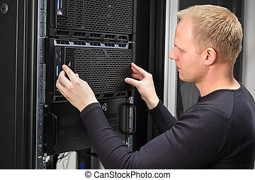 datacenter, לעבוד, יועץ, זה, שרת, רשום