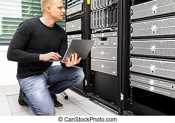 datacenter, מחשב נייד, שרתים, לצפות, יועץ