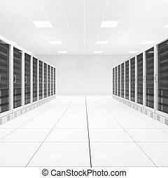 datacenter, 由于, 二, 行, ......的, 計算机, 中央, 看法
