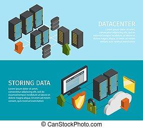 Datacenter Banner Set - Two horizontal datacenter banner set...