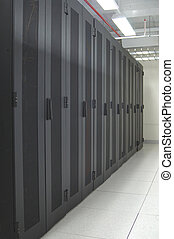 datacenter - clean - A clean and consistent row of server...