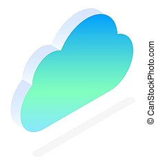 Datacenter Cloud with Files, Online Storage Icon