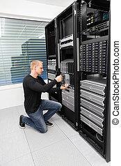 datacenter, consultor, lâmina, aquilo, substituir, servidor