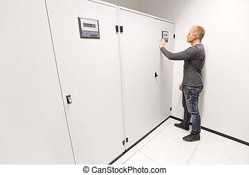 datacenter, elintéz, azt, légkondicionáló, konstruál