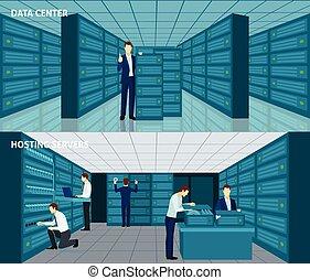 datacenter, ensemble, bannière