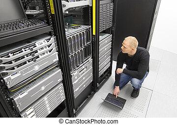 datacenter, fonctionnement, conseiller, lame, il, serveurs