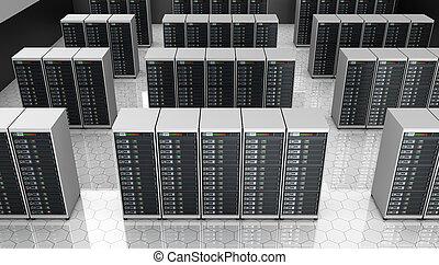 datacenter, habitación, servidor