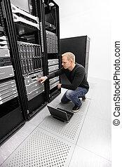datacenter, il, fonctionnement, ingénieur