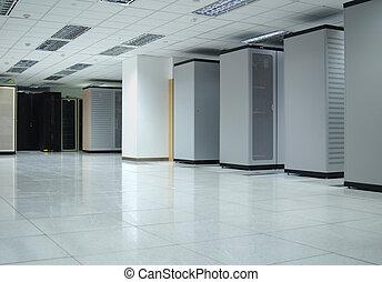 datacenter interior - The interior of a computer datacenter