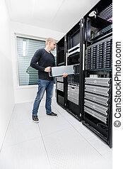 datacenter, munka, őt consultant
