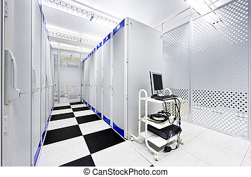 Datacenter - Clean suite in a data center with the...